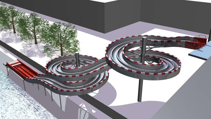 Über diese Rutschbahn hätte Basel abstimmen sollen. Laut den Berechnungen von Christian Mueller hätte der Bau rund 420 000 Franken gekostet.