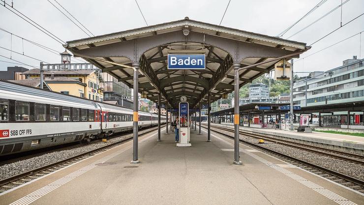 Wenn man Pech hat, hält der Zug nicht am Bahnhof Baden, auch wenn dies im Fahrplan so vorgesehen wäre.