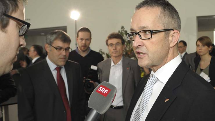 Der neu gewählte Thomas Weber beim Interview.