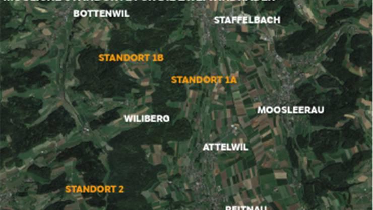 Windprojekt «uf em Chalt»: Mögliche Standorte für die zwei Windräder