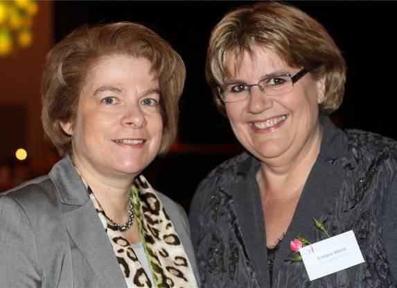 Regula Wegmann und Evelyne Wernli, Kirchenrätinnen der reformierten und katholischen Landeskirche – die Kirche hat vor 30 Jahren Anschubfinanzierung geleistet