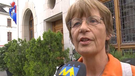 Martina Hess ist wütend auf die Behörden und reist illegal zurück in die Schweiz – ihre Argumente und was die Aargauer Staatsanwaltschaft dazu sagt. (Tele M1, 10.6.2015)