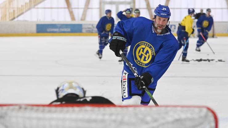 Geht für den HC Davos wieder auf Torejagd: Center Joe Thornton.