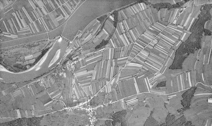 Leibstadt 1946 – das Kernkraftwerk nahm erst 1984 den Betrieb auf.