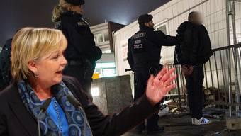Ministerpräsidentin Hannelore Kraft glaubt nicht daran, dass Täter der sexuellen Übergriffe nach einer Verurteilung ausgeschafft werden können. (Fotomontage)
