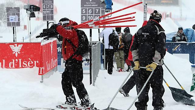 Schneechaos in Val d'Isère sorgt für Startverschiebung
