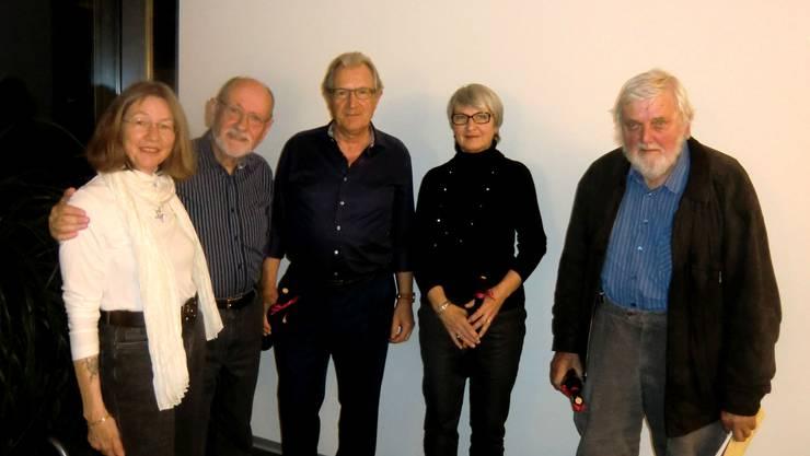 Susanne Honegger und Ueli Ganz, Adriano Passardi, Erika Dellsperger und Kurt Hediger.