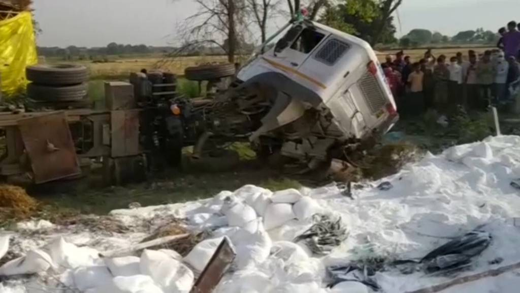 Indien: 24 Wanderarbeiter sterben bei Verkehrsunfall