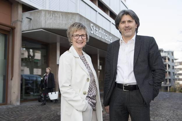 Markus Bärtschiger und Manuela Stiefel müssen für das Stadtpräsidium in die zweite Runde.