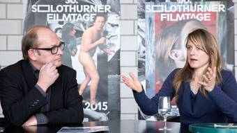 Die Filmtage-Direktion von früher und heute: Ivo Kummer und Seraina Rohrer