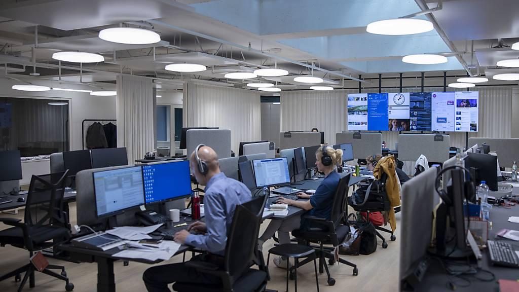 Die SRF-Redaktion in Basel beim Bahnhof SBB. (Archivbild)