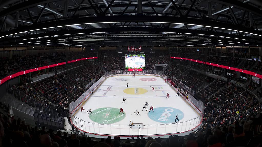Die neue Eishockey-Arena in Lausanne ist für den Cupfinal Ajoie - Davos ausverkauft