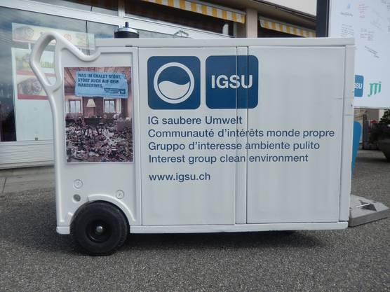 Recycling-Mobil der IGSU