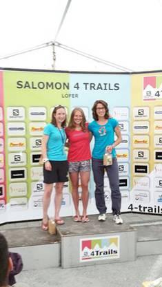 Tages-Podest 3. Etappe: Helen Bonsor, Zhanna Vokueva, Kathrin Götz (v.l.)