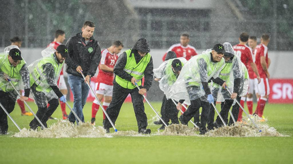 Beim WM-Quali-Spiel der Schweizer Nati gegen Andorra sah es im St.Galler Stadion so aus. (Archivbild)