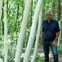 Der Künstler Sammy Deichmann aus Aedermannsdorf und seine neue Installation am Holzweg Thal.