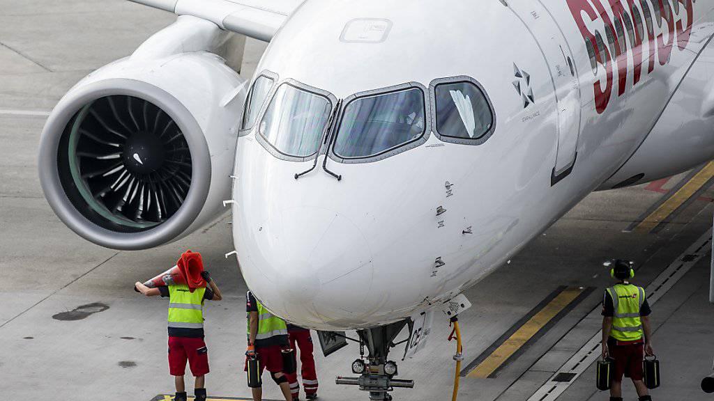 Wegen Verspätungen höchstens Mittelmass: Die Airline Swiss und die Schweizer Flughäfen kommen in einer Studie schlecht weg. (Archivbild)