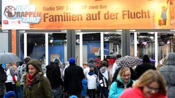 Bei Spendenaktionen für Familien auf der Flucht wurden letztes Jahr über sechs Millionen Franken gesprochen