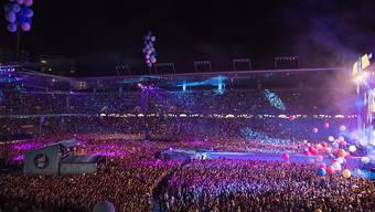 """Zum diesjährigen Energy Air war das Stade des Suisse in Bern am Samstagabend wieder komplett """"ausverschenkt"""" gewesen. (Symbolbild)"""