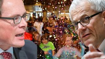 Wo sich Roger Köppel und Kurt Fluri gegenübertreten werden, werden normalerweise viel Konfettis herumgeworfen.