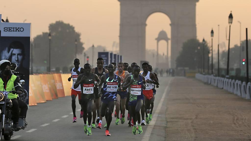 Trotz Smog und Corona: Halbmarathon in Neu Delhi