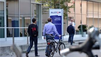 Alstom in Baden, kurz nachdem die EU-Kommission den Verkauf an GE und Ansaldo bewilligt hat.