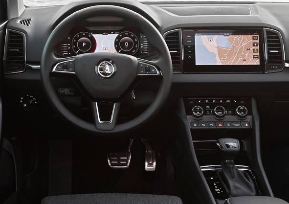 Das digitale Cockpit wertet den Innenraum auf.