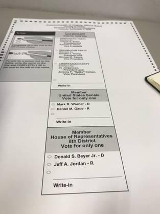 So sieht er aus, der begehrte Stimmzettel. Nur noch ausfüllen und in die Maschine füttern, dann wars das.