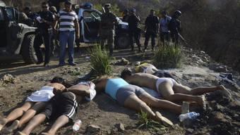 Fast alltägliches Bild in Mexiko: Opfer des Drogenkrieges (Archiv)