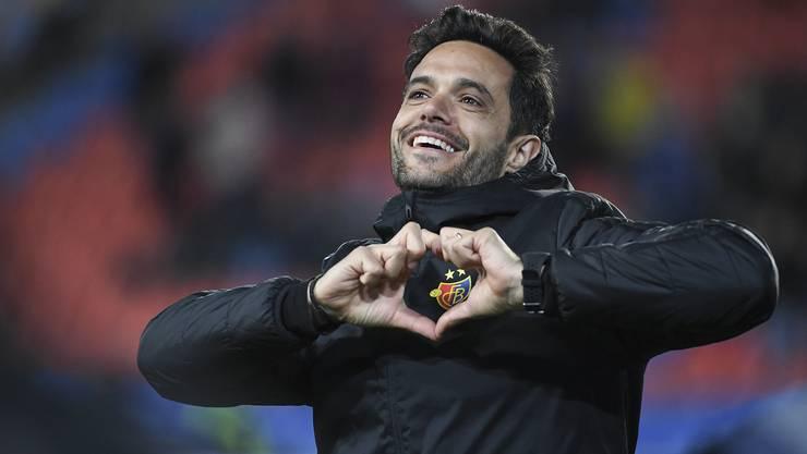 Den FCB im Herzen: Über den knappen 3:2-Sieg freut sich nicht nur Ignazio Torreno (Leiter Fitness).