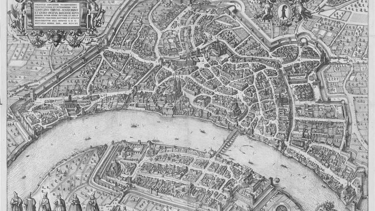 Die stolze, alte Stadt am Rhein: Keine Stadtansicht hat Basels Selbstbild so geprägt wie der 400 Jahre alte Merianplan.