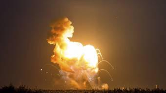 Die Explosion der Rakete kurz nach dem Start vor einer Woche