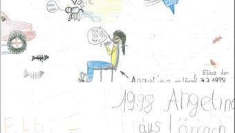 Die Kinderzeichnung von Angelina vom Juli 1998.