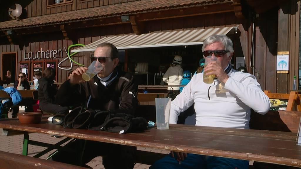 Terrassen in den Zentralschweizer Skigebieten bleiben vorerst offen