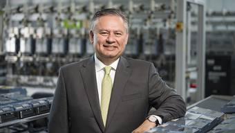Landis+Gyr-Chef Richard Mora kann die Rückkehr in die Gewinnzone verkünden. (Archiv)