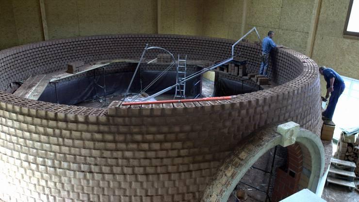 So wurde die Lehmkuppel aufgebaut.