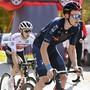 Der Brite Tao Geoghegan Hart (vorne) und der Australier Jai Hindley werden am Sonntag den Giro-Gesamtsieg unter sich ausmachen