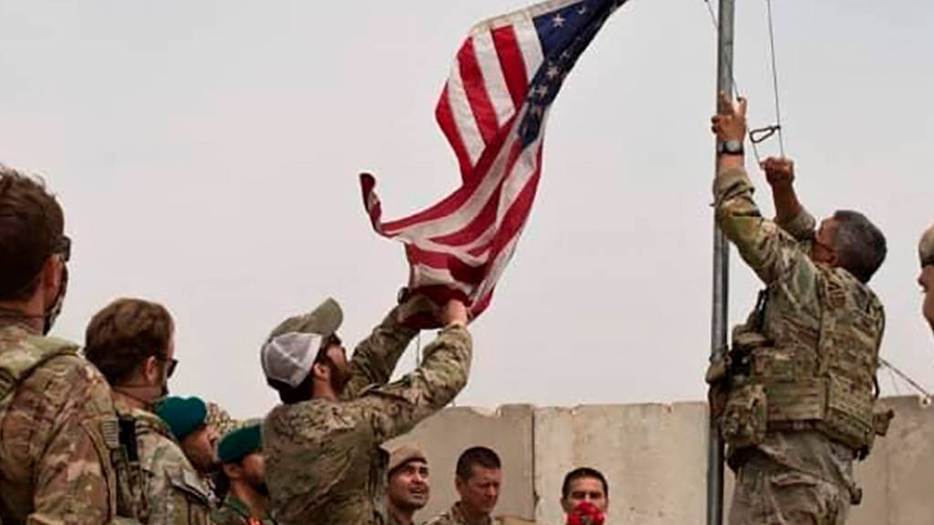 ARCHIV - Übergabezeremonie der US-Armee an die afghanische Nationalarmee in der Provinz Helmand. Foto: -/Defense Press Office/AP/dpa