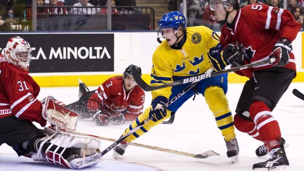Carl Klingberg im Einsatz mit der schwedischen Junioren-Nationalmannschaft