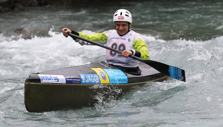 Die Aargauerin Sabine Eichenberger kämpft im Sprintfinal um eine WM-Medaille.