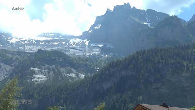 Felsbewegung in Kandersteg