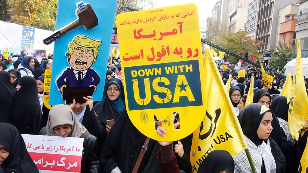 Alle Jahre wieder: Protest gegen den «Satan» vor der US-Botschaft in Teheran.