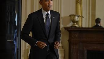 Tritt Anschuldigungen entgegen: Barack Obama in Washington