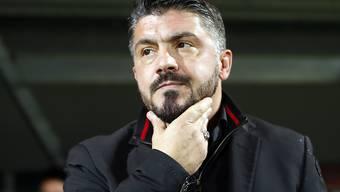 Gennaro Gattuso darf mit seiner bisherigen Ausbeute mit der AC Milan nicht zufrieden sein