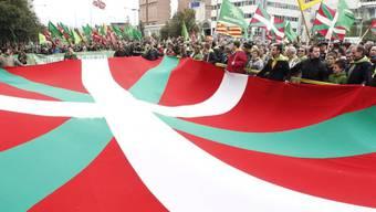 Demonstration für die baskische Unabhängigkeit im Jahr 2012