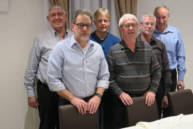 V.l. Martin Reinhard, Präsident; Bruno Allemann, Kassier; Jörg Gasche, Aktuar; Fredi Strähl, Beisitzer; René Flüeli, Beisitzer und Turnleiter; Fredy Straub, Vize-Präsident