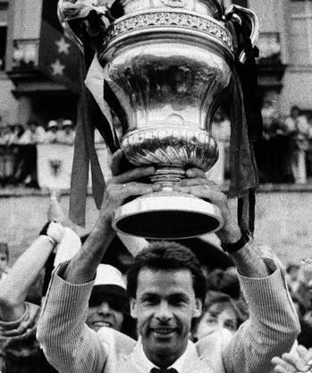 27. Mai, 1985: Cupsieg mit dem FC Aarau dank des 1:0-Sieges über Neuchâtel Xamax.
