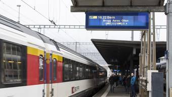 Stündlich gibt es aus Baden heute eine Direktverbindung nach Bern über Brugg, Aarau und Olten. Künftig sollen die Badener, wenn sie nach Bern wollen, in Aarau oder Olten umsteigen müssen.
