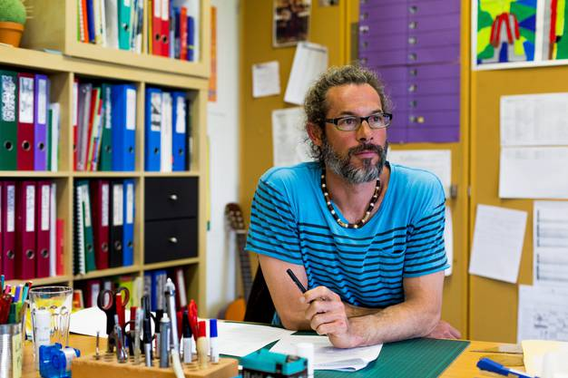 Dominik Kägi, Klassenlehrer der 6. Klasse im Schulhaus Bannegg in Waltenschwil.