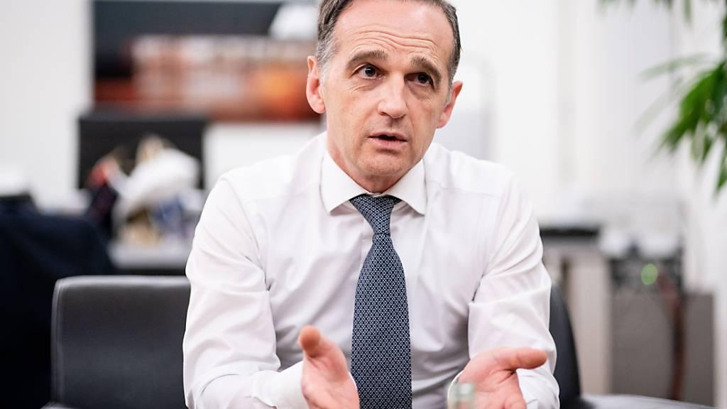 ARCHIV - Heiko Maas (SPD), Außenminister, spricht bei einem Interview mit Journalisten der Deutschen Presse-Agentur dpa. Foto: Kay Nietfeld/dpa
